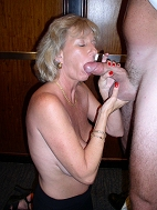 Mother Susan sucking monster cock.